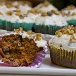 Cupcakes de zanahoria – Paleo, libre de gluten