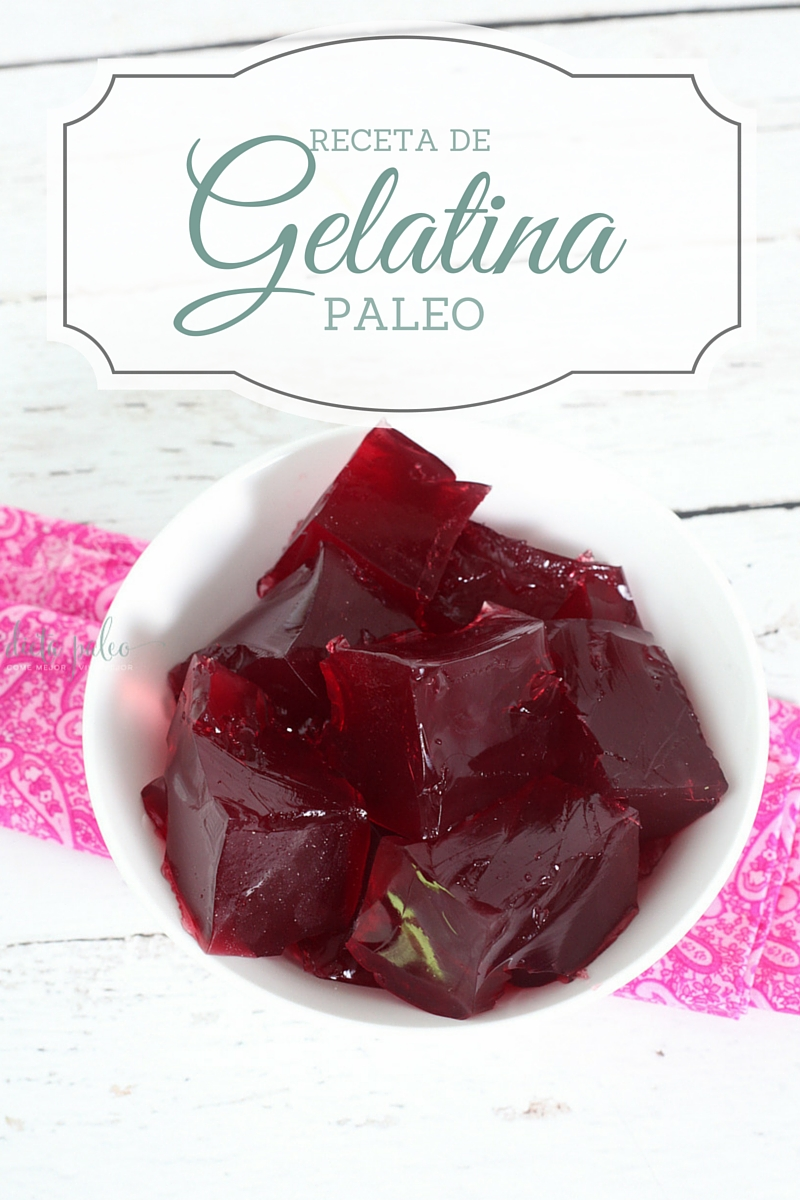 gelatina paleo receta