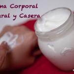 Crema corporal natural casera
