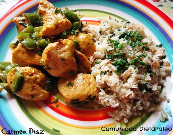 pollo al curry con arroz de coliflor- editada
